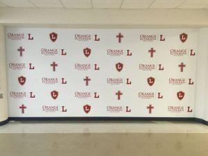 Northwest Florida Church Signs custom wall vinyl step repeat mural 300x225
