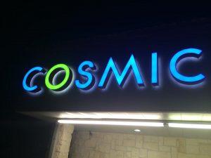 custom lighted storefront sign